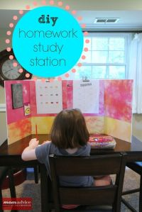 One example of a homework station.