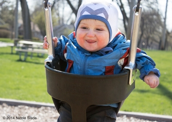 Baby nico on swing