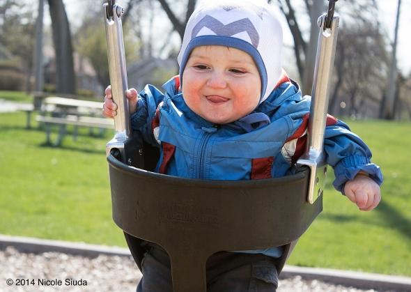 Baby nico on swing
