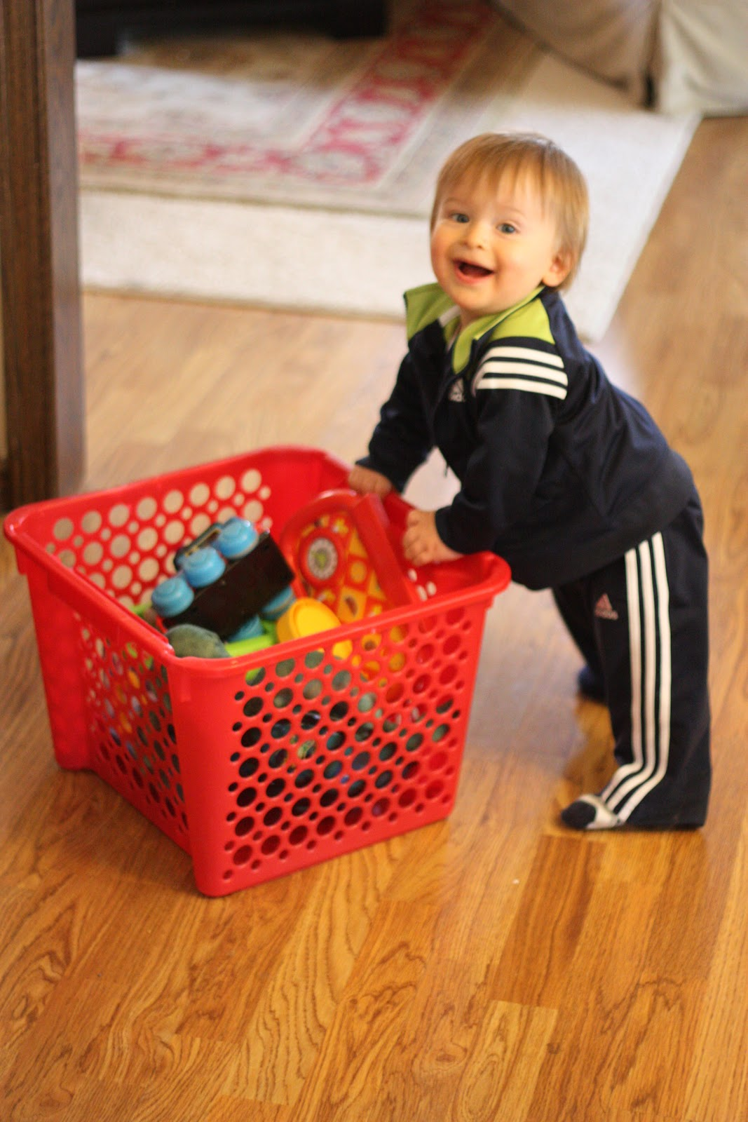 child and laundry